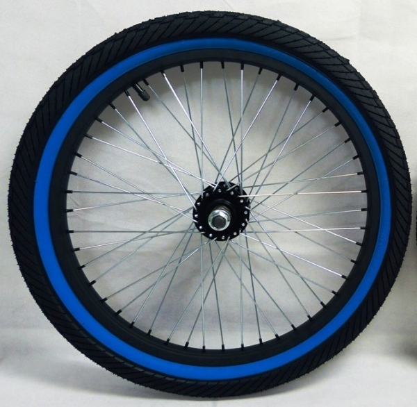 BLUE TIRES WHEELS