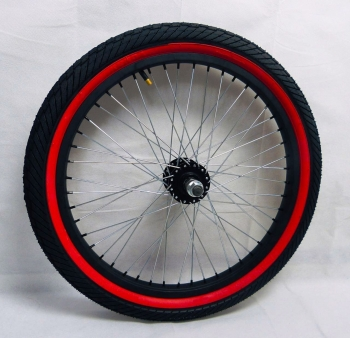 RED TIRES WHEELS