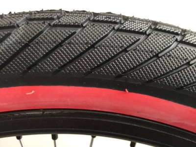 BLK RED TIRE